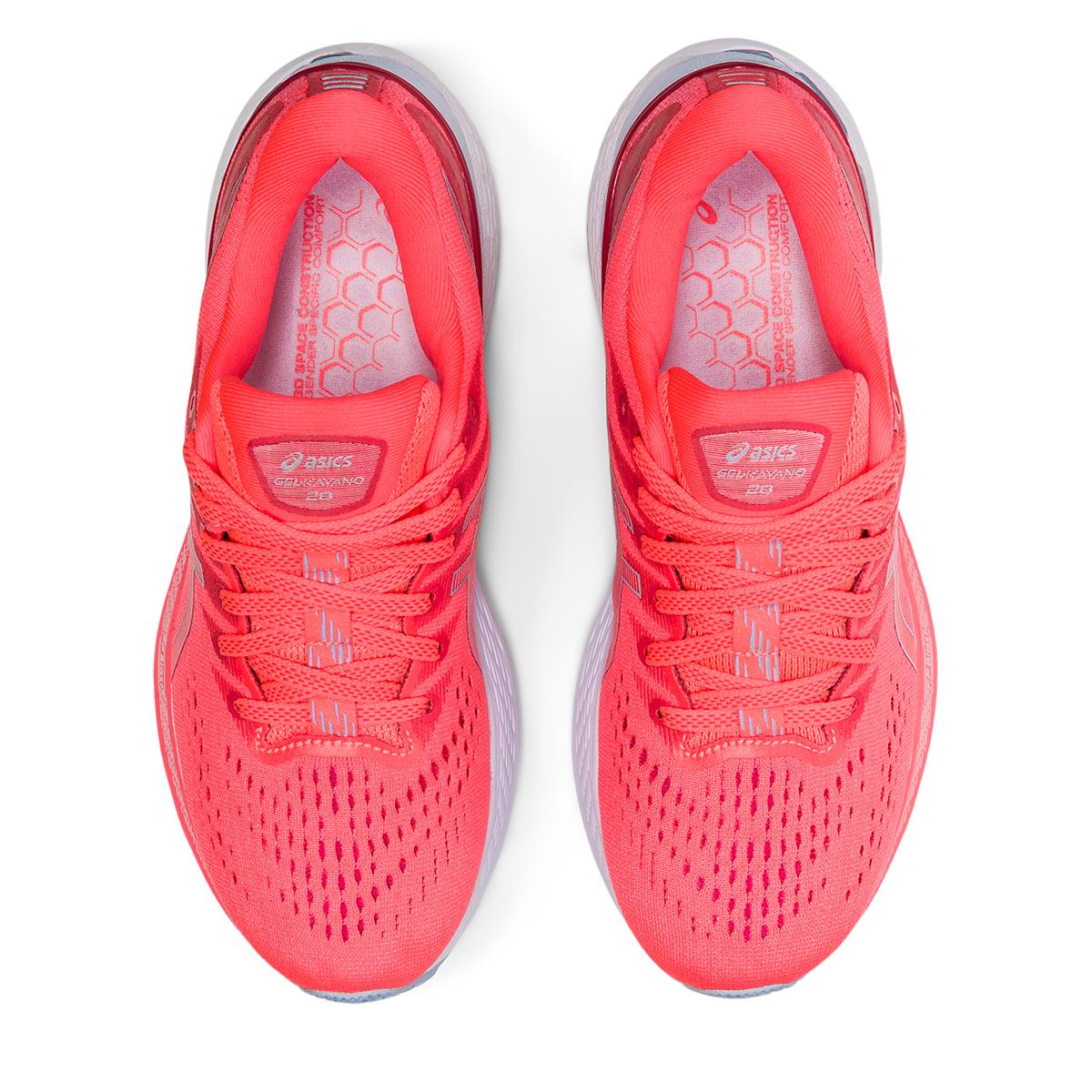 Women's Asics Gel-Kayano 28 Running Shoe - Color: Blazing Coral - Size: 5 - Width: Regular, Blazing Coral, large, image 3