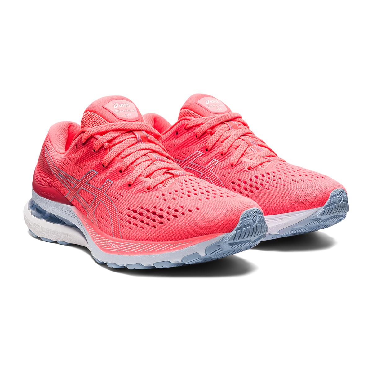 Women's Asics Gel-Kayano 28 Running Shoe - Color: Blazing Coral - Size: 5 - Width: Regular, Blazing Coral, large, image 5