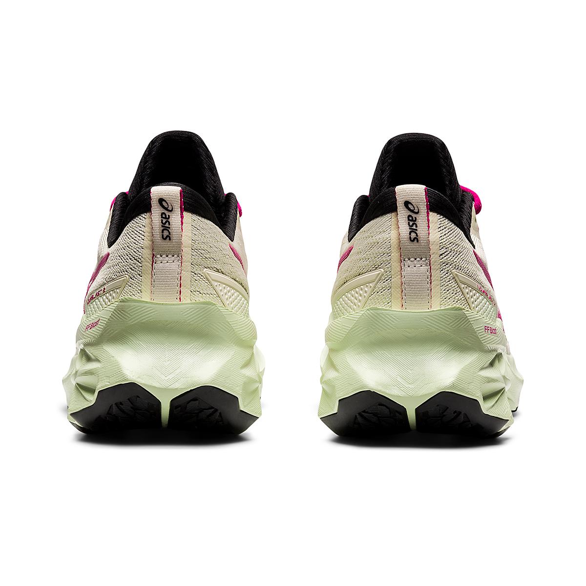 Women's Asics Novablast 2 Running Shoe - Color: Birch/Pink Rave - Size: 5 - Width: Regular, Birch/Pink Rave, large, image 5