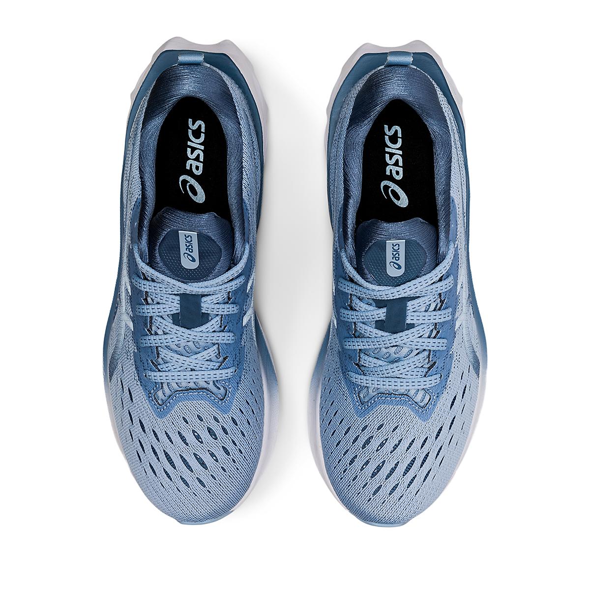 Women's Asics Novablast 2 Running Shoe - Color: Mist/Soft Sky - Size: 5 - Width: Regular, Mist/Soft Sky, large, image 5