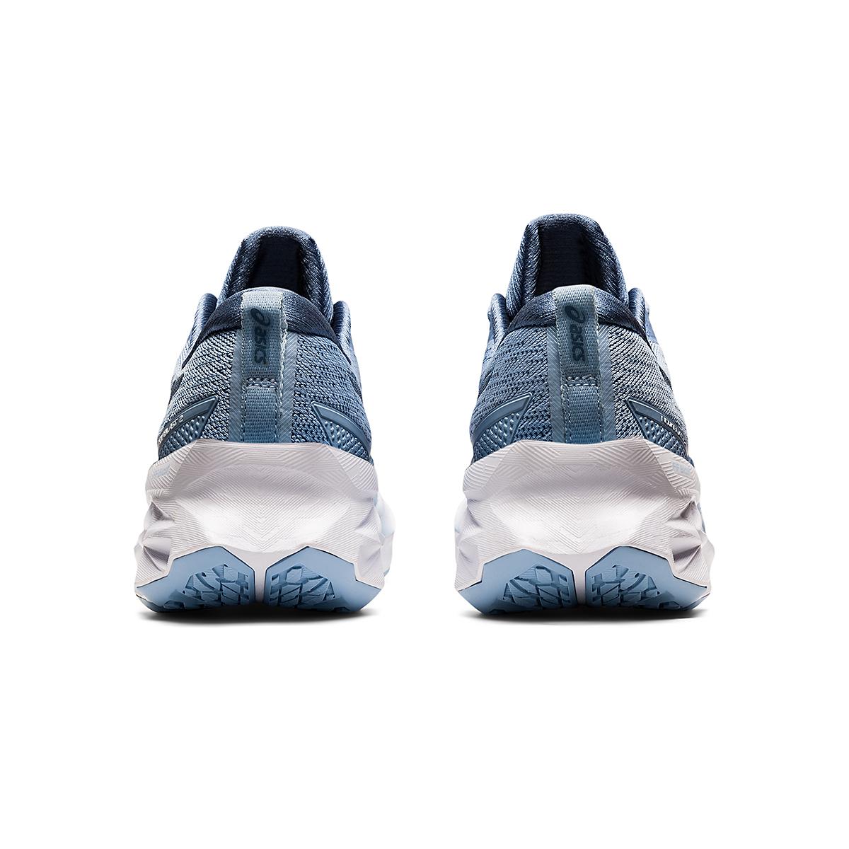 Women's Asics Novablast 2 Running Shoe - Color: Mist/Soft Sky - Size: 5 - Width: Regular, Mist/Soft Sky, large, image 6
