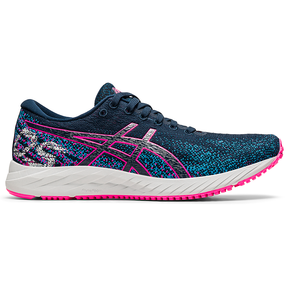 Women's Asics Gel-DS Trainer 26 Running Shoe - Color: French Blue/Hot Pink - Size: 5 - Width: Regular, French Blue/Hot Pink, large, image 1