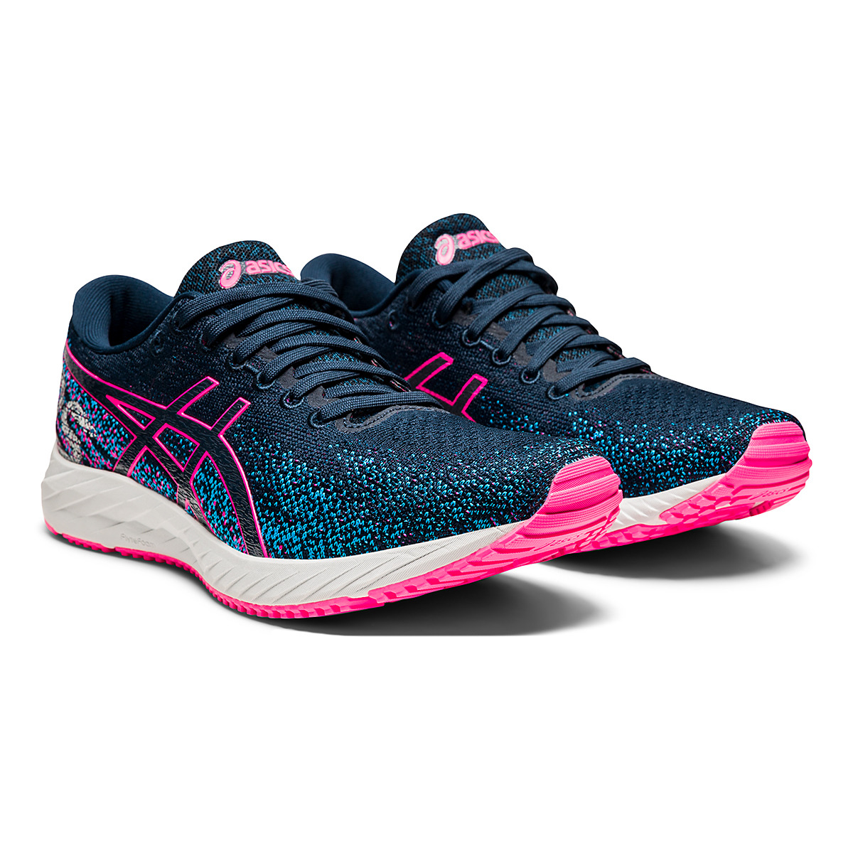 Women's Asics Gel-DS Trainer 26 Running Shoe - Color: French Blue/Hot Pink - Size: 5 - Width: Regular, French Blue/Hot Pink, large, image 3