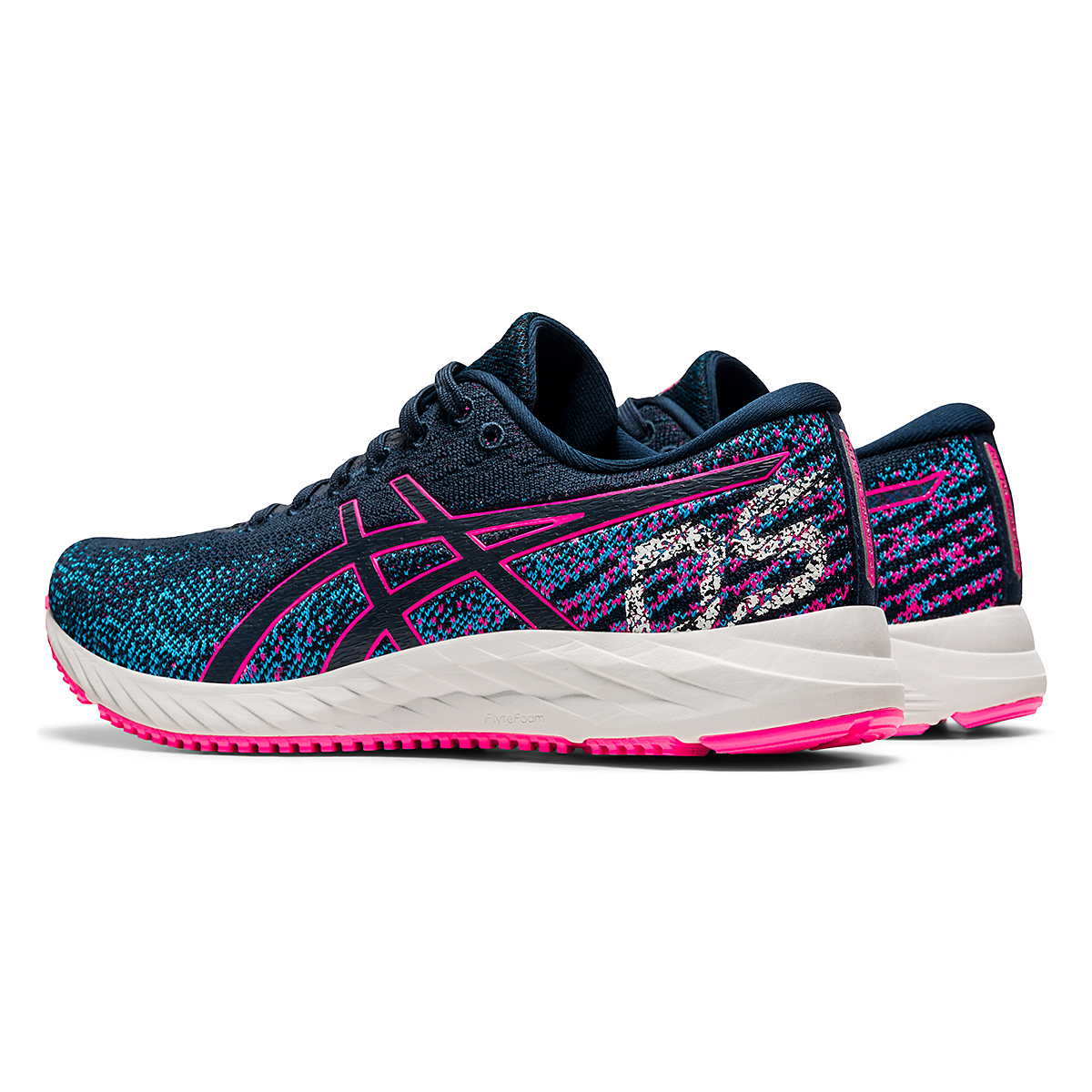 Women's Asics Gel-DS Trainer 26 Running Shoe - Color: French Blue/Hot Pink - Size: 5 - Width: Regular, French Blue/Hot Pink, large, image 4