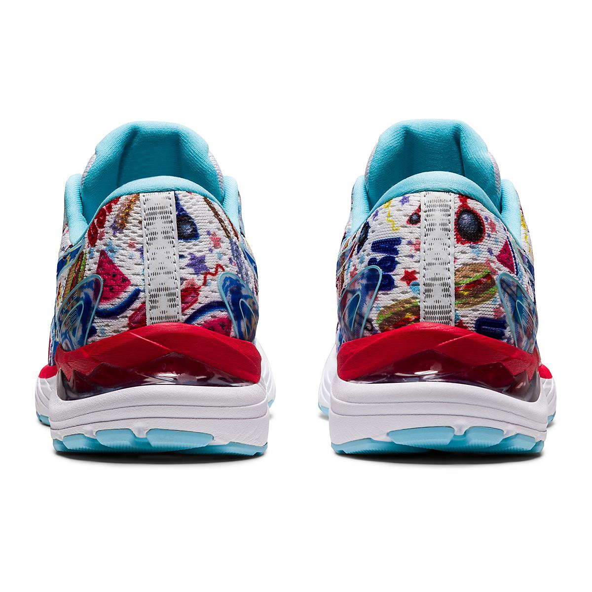 Women's Asics Gel-Cumulus 23 Cookout Running Shoe - Color: White/Asics Blue - Size: 5 - Width: Regular, White/Asics Blue, large, image 5