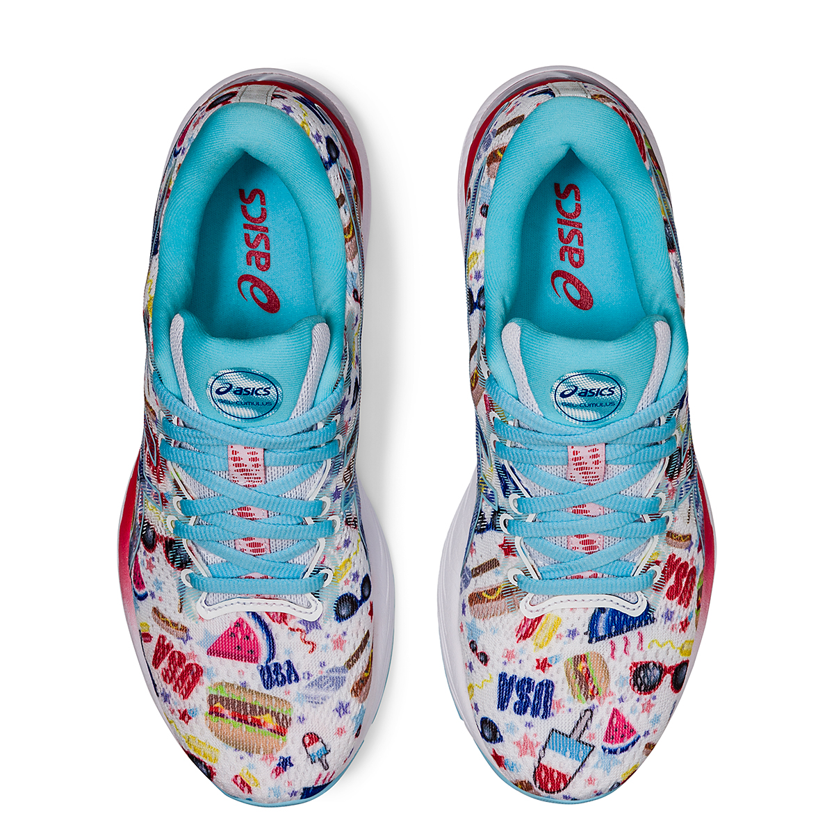 Women's Asics Gel-Cumulus 23 Cookout Running Shoe - Color: White/Asics Blue - Size: 5 - Width: Regular, White/Asics Blue, large, image 6