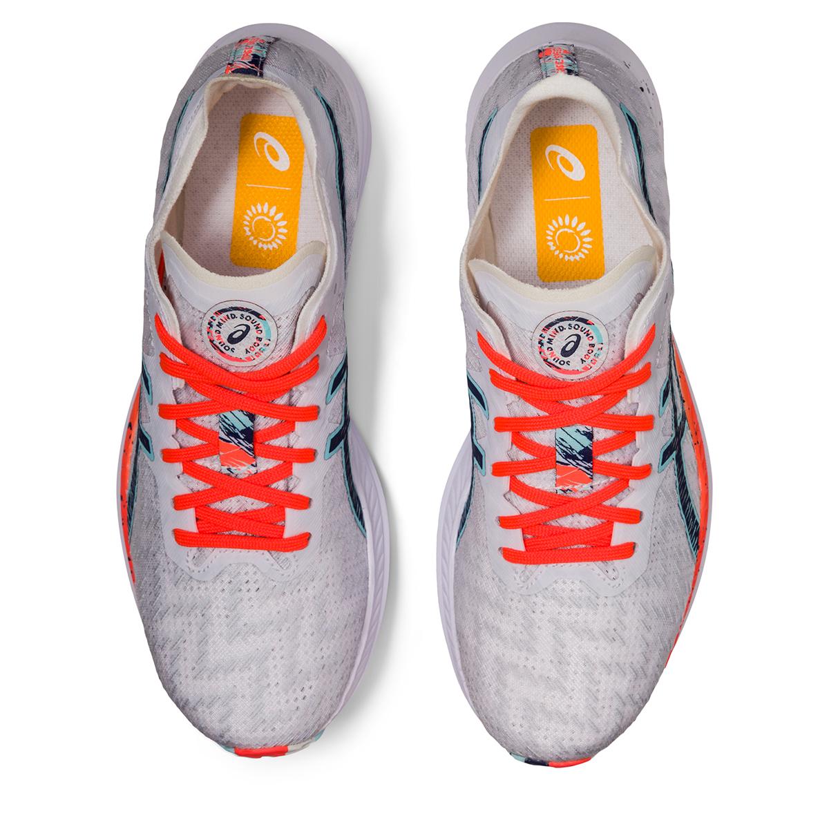 Women's Asics Magic Speed Running Shoe - Color: White/Thunder Blue - Size: 5 - Width: Regular, White/Thunder Blue, large, image 3