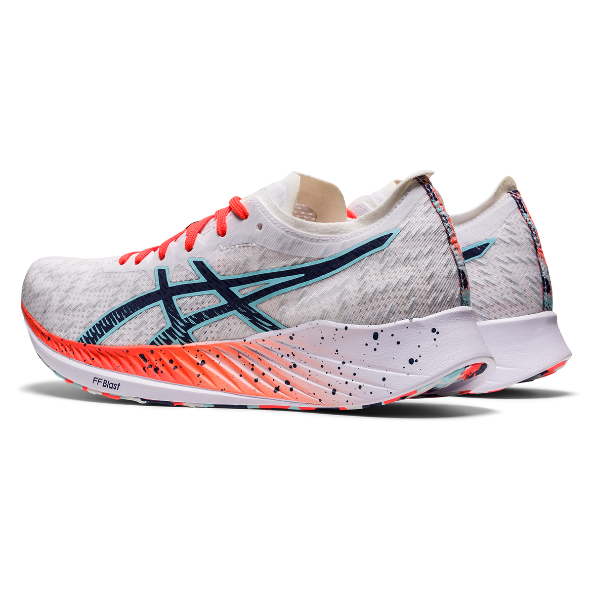 Women's Asics Magic Speed Running Shoe - Color: White/Thunder Blue - Size: 5 - Width: Regular, White/Thunder Blue, large, image 6