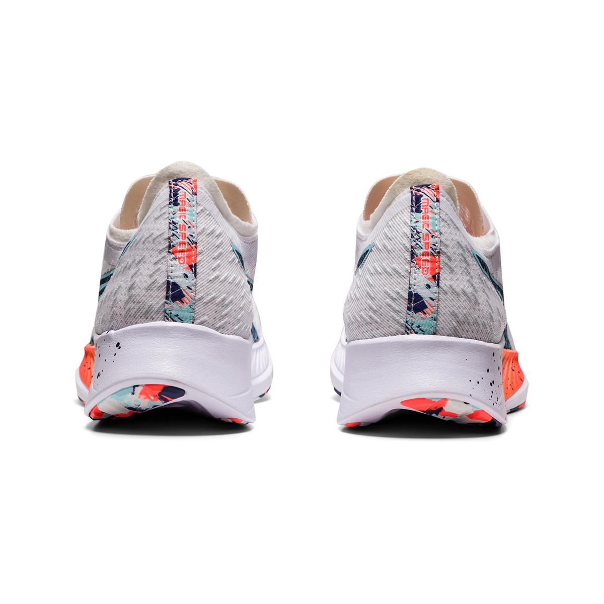 Women's Asics Magic Speed Running Shoe - Color: White/Thunder Blue - Size: 5 - Width: Regular, White/Thunder Blue, large, image 7