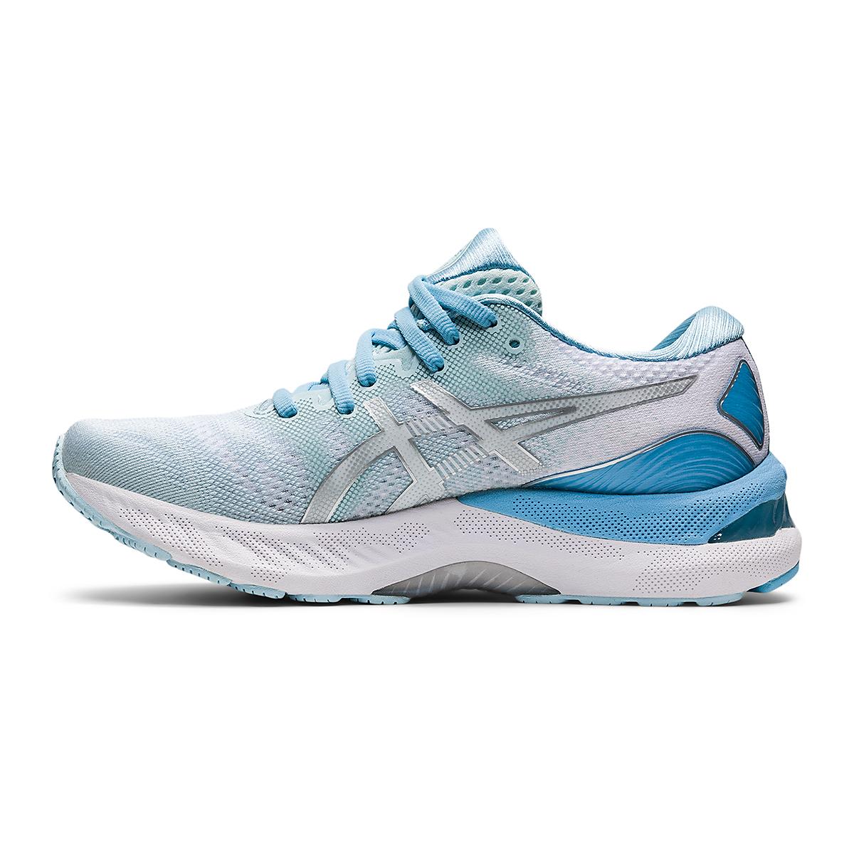 Women's Asics Gel-Nimbus 23 Running Shoe - Color: Aqua Angel/Pure - Size: 5 - Width: Regular, Aqua Angel/Pure, large, image 2