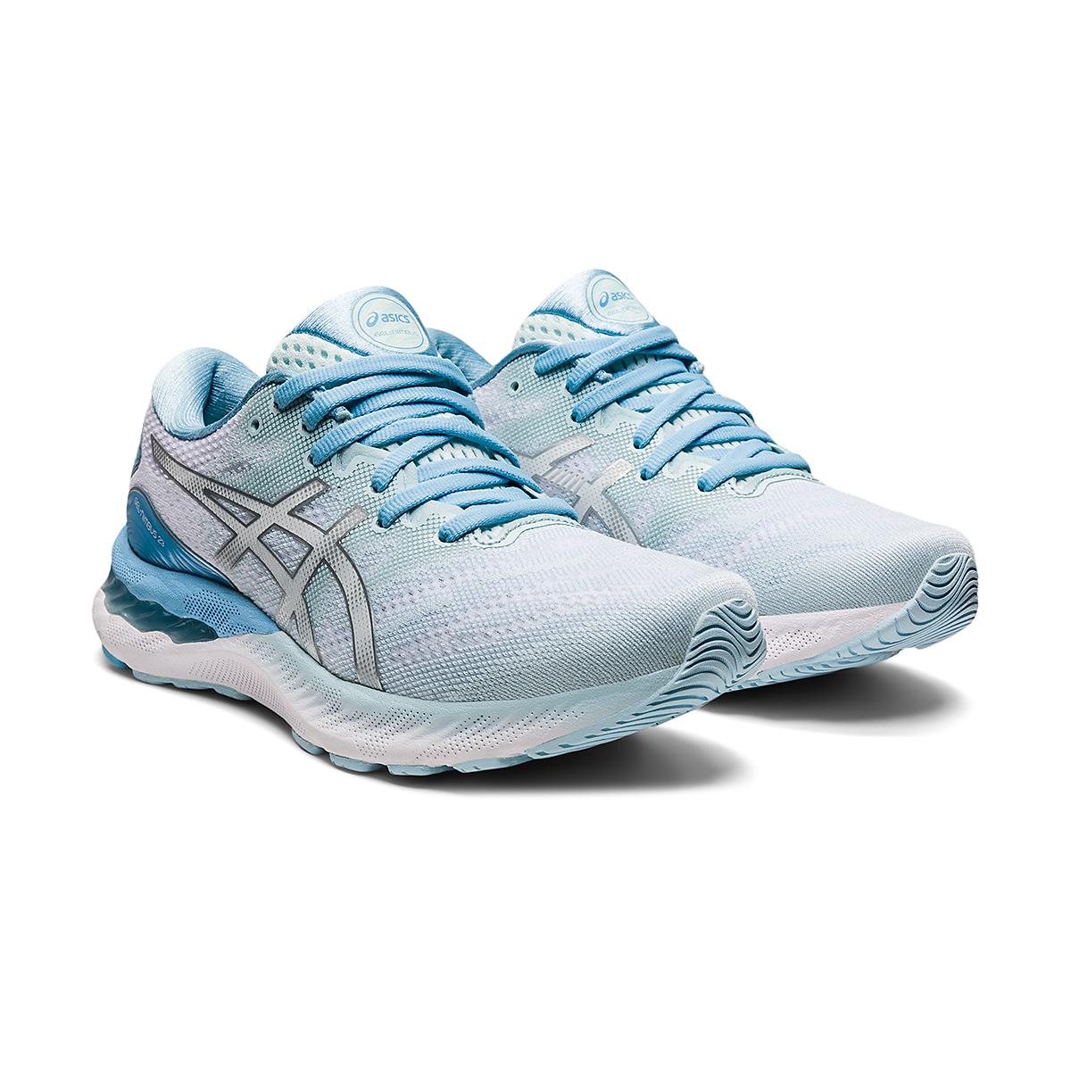 Women's Asics Gel-Nimbus 23 Running Shoe - Color: Aqua Angel/Pure - Size: 5 - Width: Regular, Aqua Angel/Pure, large, image 3