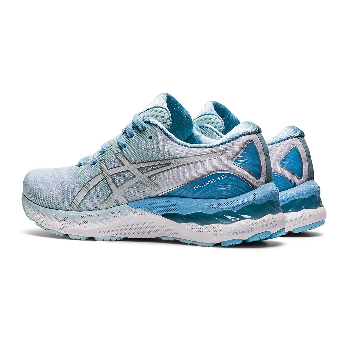 Women's Asics Gel-Nimbus 23 Running Shoe - Color: Aqua Angel/Pure - Size: 5 - Width: Regular, Aqua Angel/Pure, large, image 4