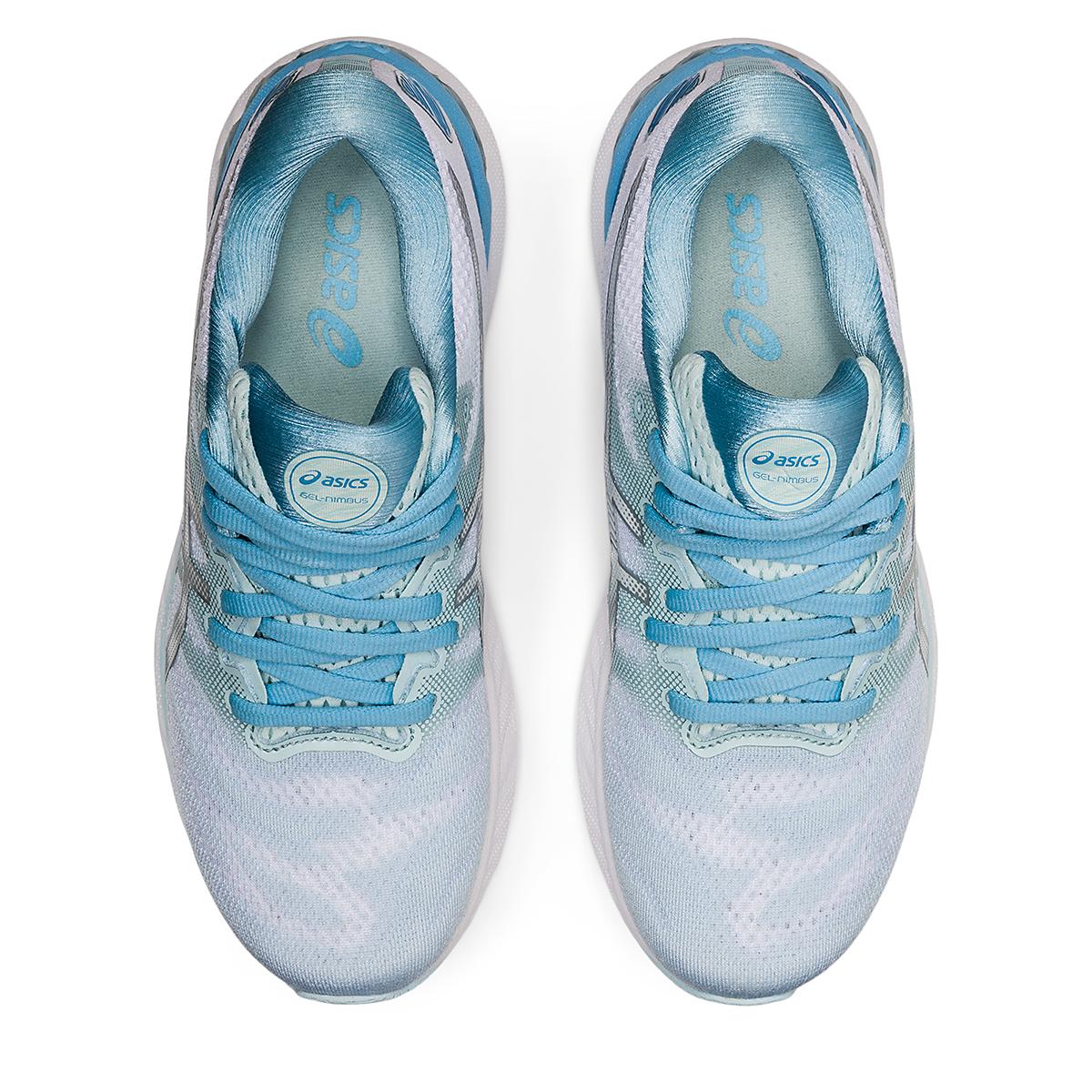 Women's Asics Gel-Nimbus 23 Running Shoe - Color: Aqua Angel/Pure - Size: 5 - Width: Regular, Aqua Angel/Pure, large, image 5