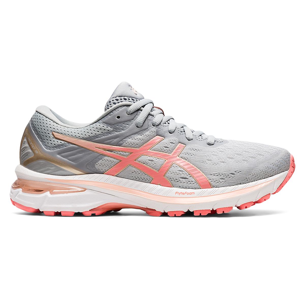 Women's Asics Gt-2000 9 Running Shoe - Color: Piedmont Grey - Size: 5 - Width: Regular, Piedmont Grey, large, image 1