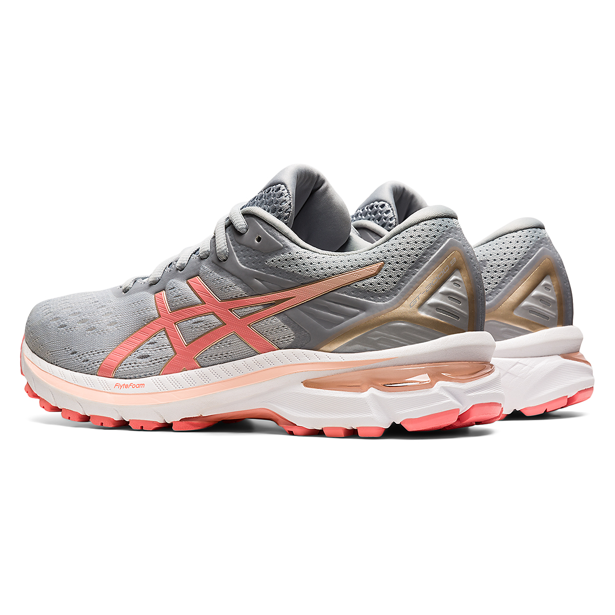 Women's Asics Gt-2000 9 Running Shoe - Color: Piedmont Grey - Size: 5 - Width: Regular, Piedmont Grey, large, image 4