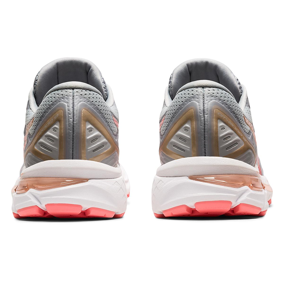 Women's Asics GT-2000 9 Running Shoe - Color: Piedmont Grey/Guava - Size: 5 - Width: Regular, Piedmont Grey/Guava, large, image 6