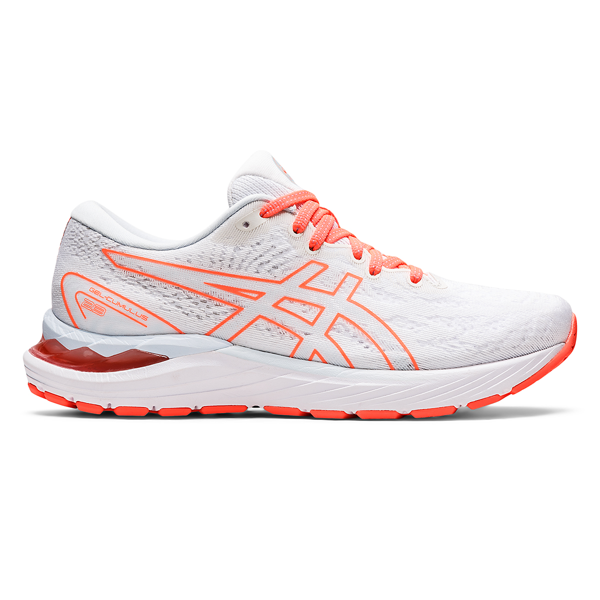 Women's Asics Gel-Cumulus 23 Running Shoe - Color: White/Sky - JackRabbit Exclusive - Size: 5 - Width: Regular, White/Sky - JackRabbit Exclusive, large, image 1
