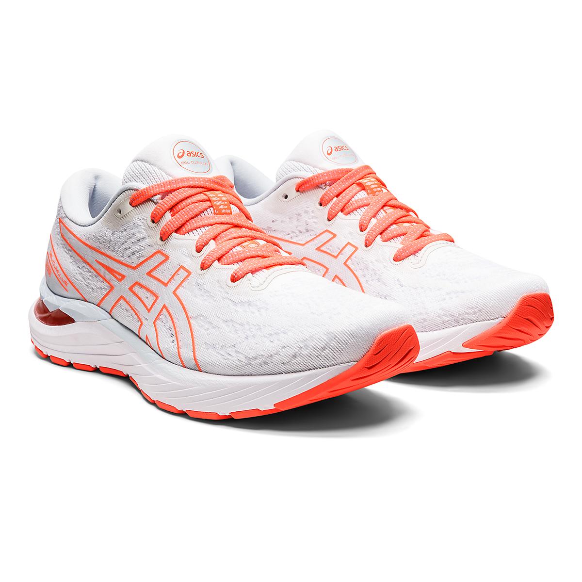 Women's Asics Gel-Cumulus 23 Running Shoe - Color: White/Sky - JackRabbit Exclusive - Size: 5 - Width: Regular, White/Sky - JackRabbit Exclusive, large, image 3