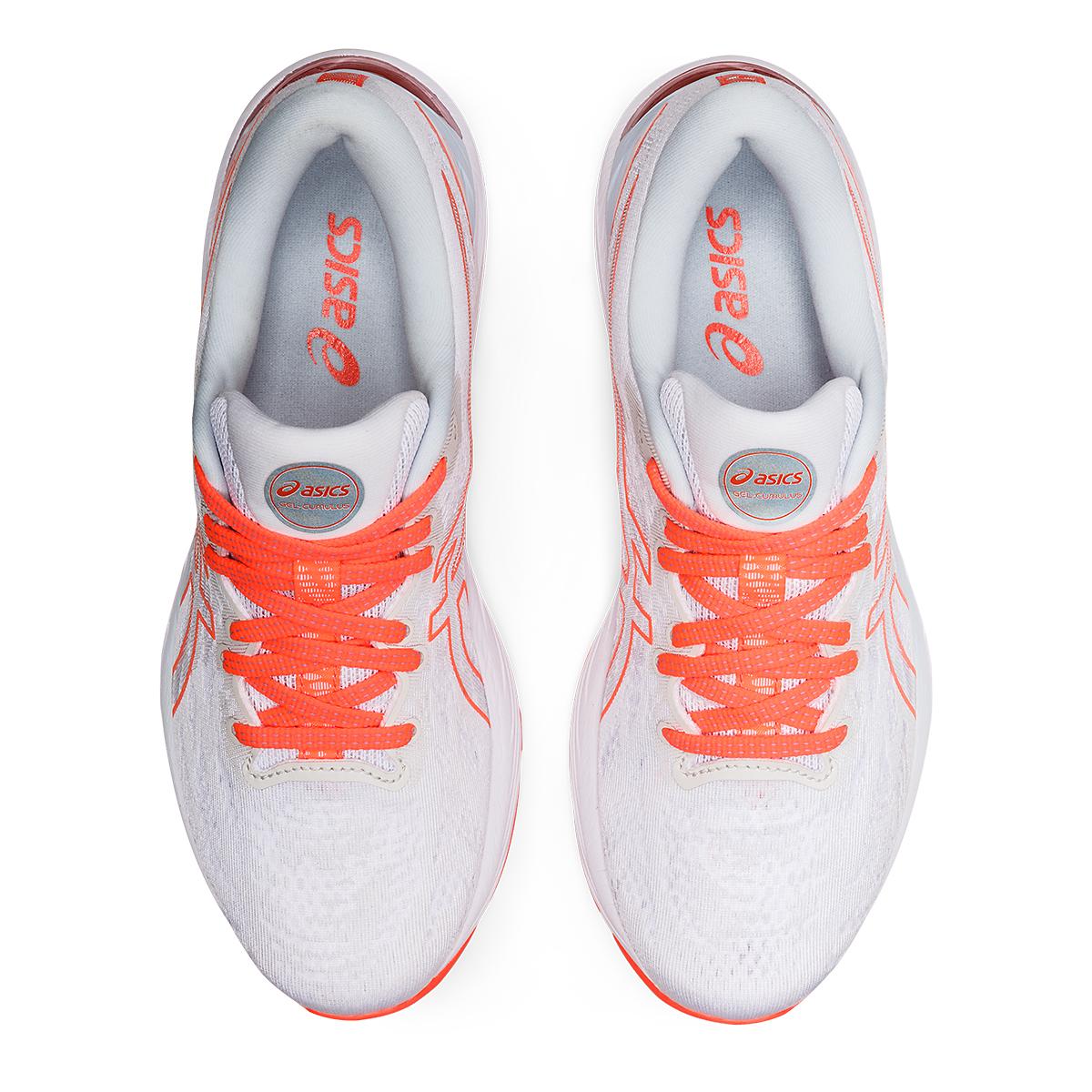 Women's Asics Gel-Cumulus 23 Running Shoe - Color: White/Sky - JackRabbit Exclusive - Size: 5 - Width: Regular, White/Sky - JackRabbit Exclusive, large, image 6