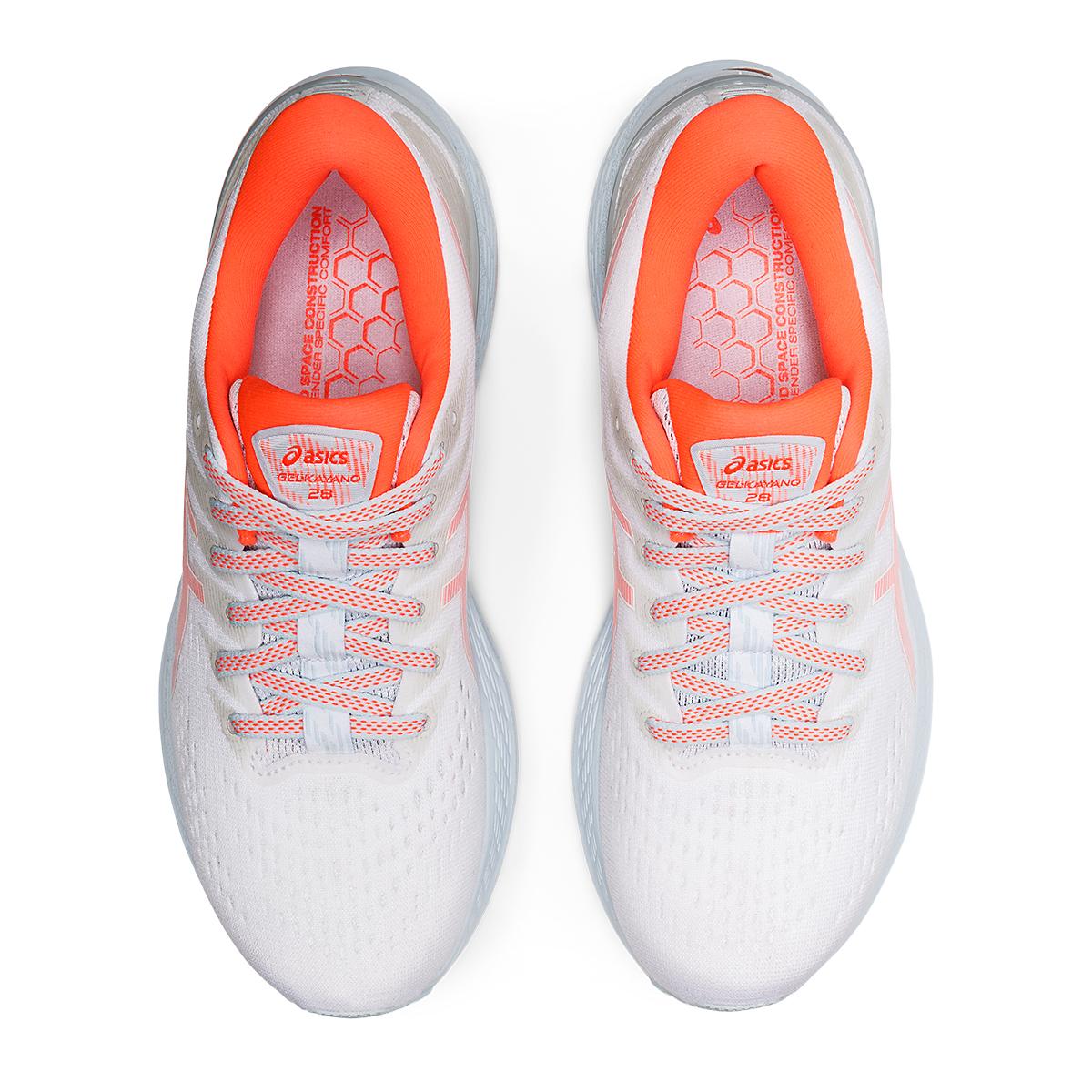 Women's Asics Gel-Kayano 28 Running Shoe - Color: White/Flash Coral - JackRabbit Exclusive - Size: 5 - Width: Regular, White/Flash Coral - JackRabbit Exclusive, large, image 6
