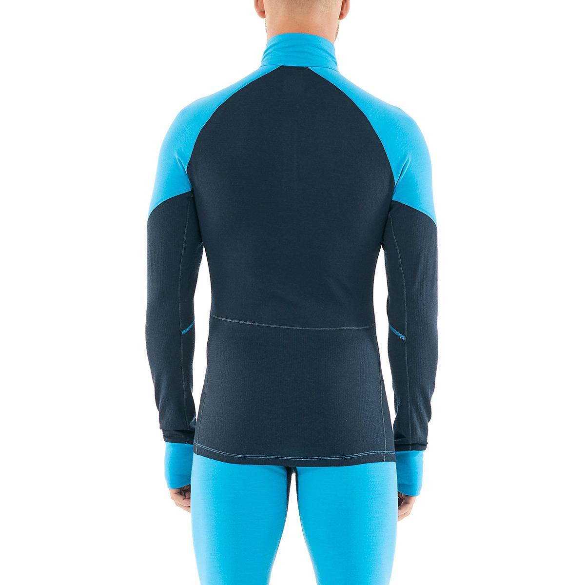 Men's Icebreaker 260 Zone Long Sleeve Half Zip - Color: Polar - Size: S, Polar, large, image 3