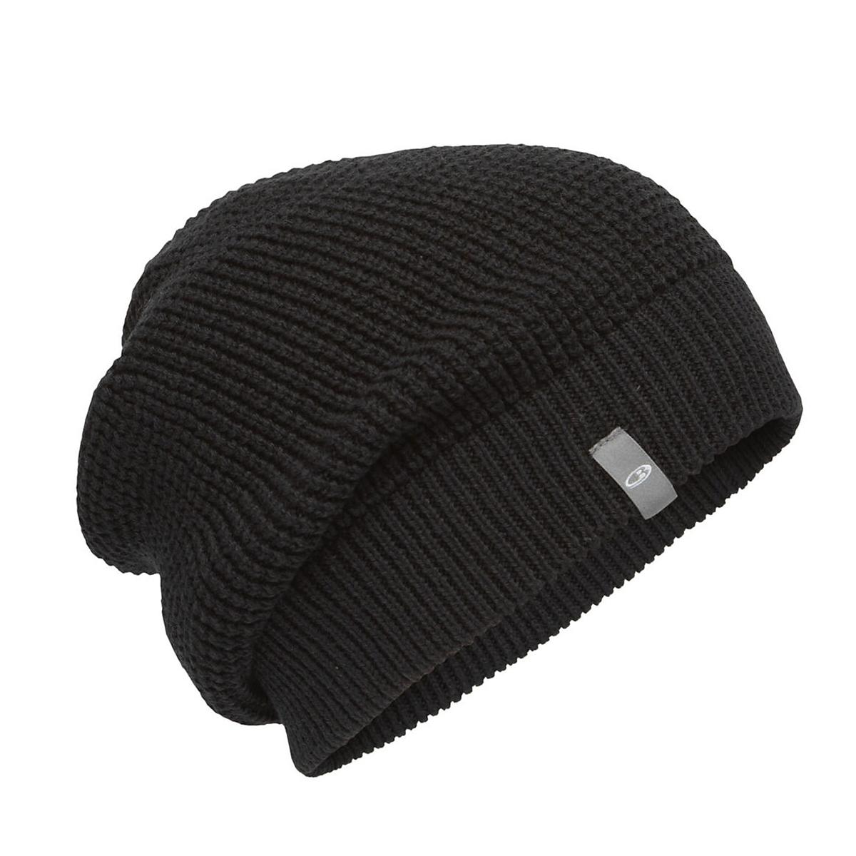 Icebreaker Feadan Slouch Beanie  - Color: Black, Black, large, image 1