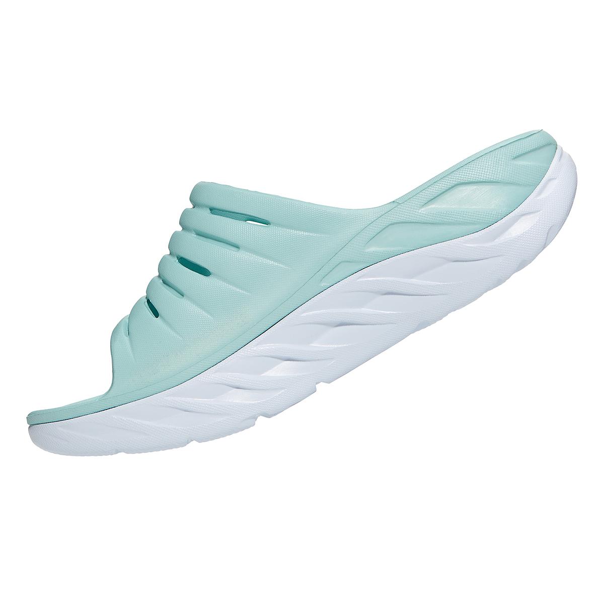 Women's Hoka One One Ora Recovery Slide - Color: Eggshell Blue/White - Size: 5 - Width: Regular, Eggshell Blue/White, large, image 4