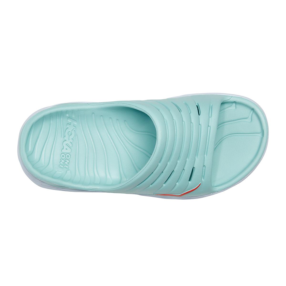 Women's Hoka One One Ora Recovery Slide - Color: Eggshell Blue/White - Size: 5 - Width: Regular, Eggshell Blue/White, large, image 5