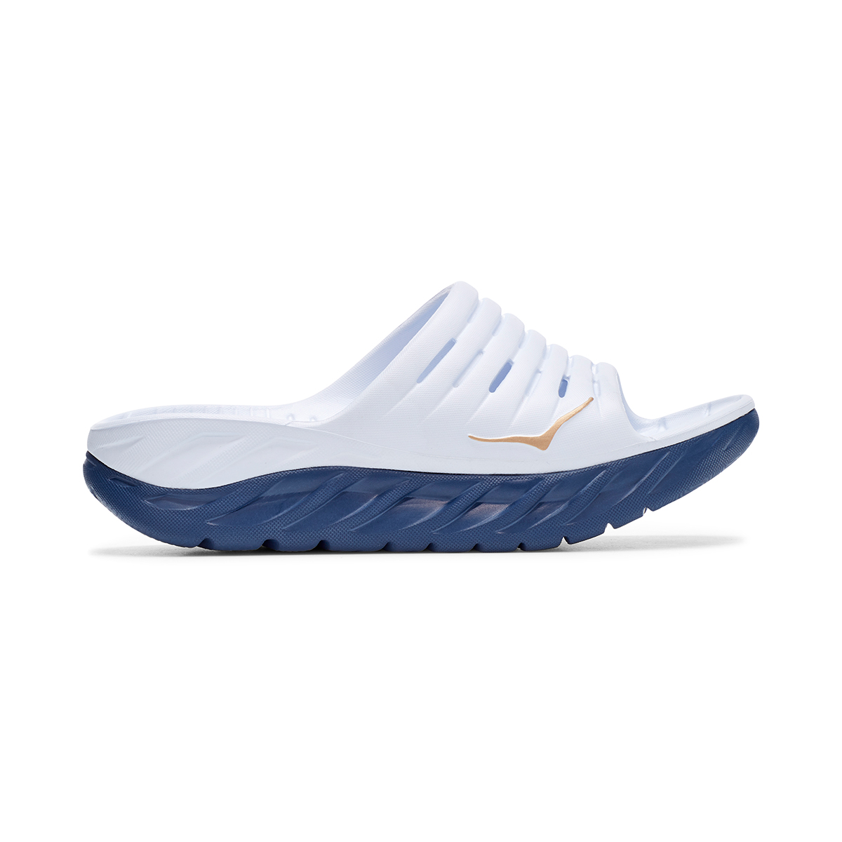 Women's Hoka One One Ora Recovery Slide - Color: White/Vintage - Size: 5 - Width: Regular, White/Vintage, large, image 1