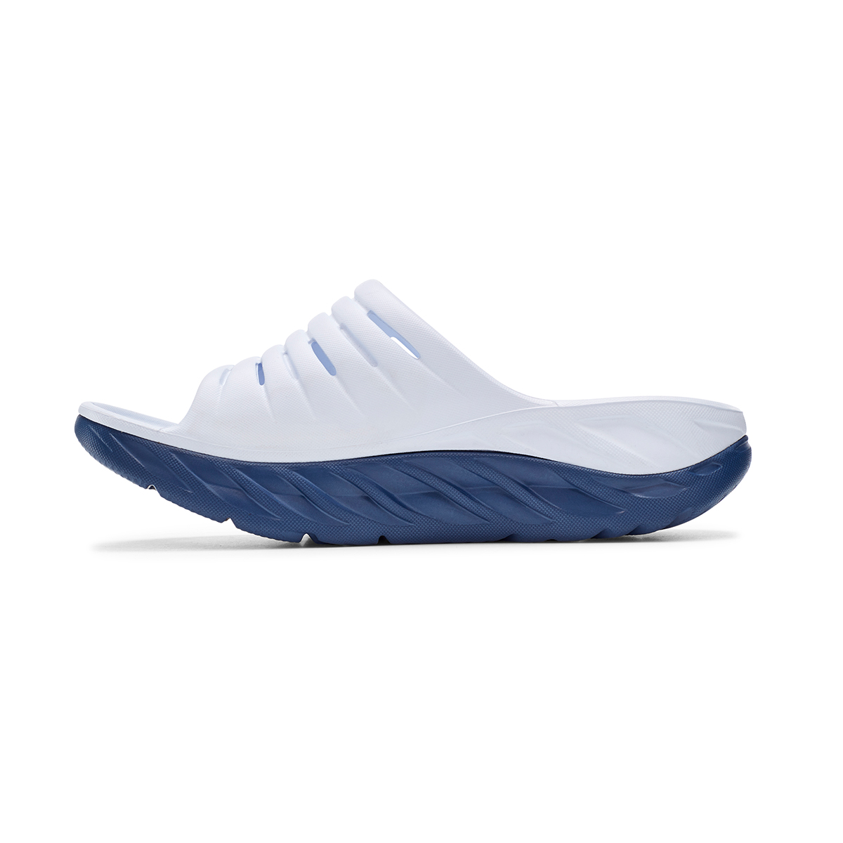Women's Hoka One One Ora Recovery Slide - Color: White/Vintage - Size: 5 - Width: Regular, White/Vintage, large, image 2