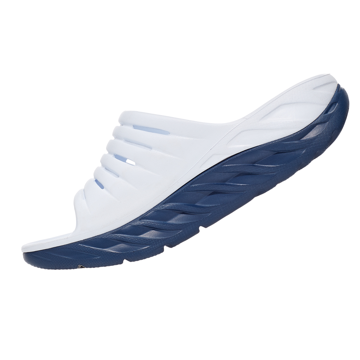 Women's Hoka One One Ora Recovery Slide - Color: White/Vintage - Size: 5 - Width: Regular, White/Vintage, large, image 3