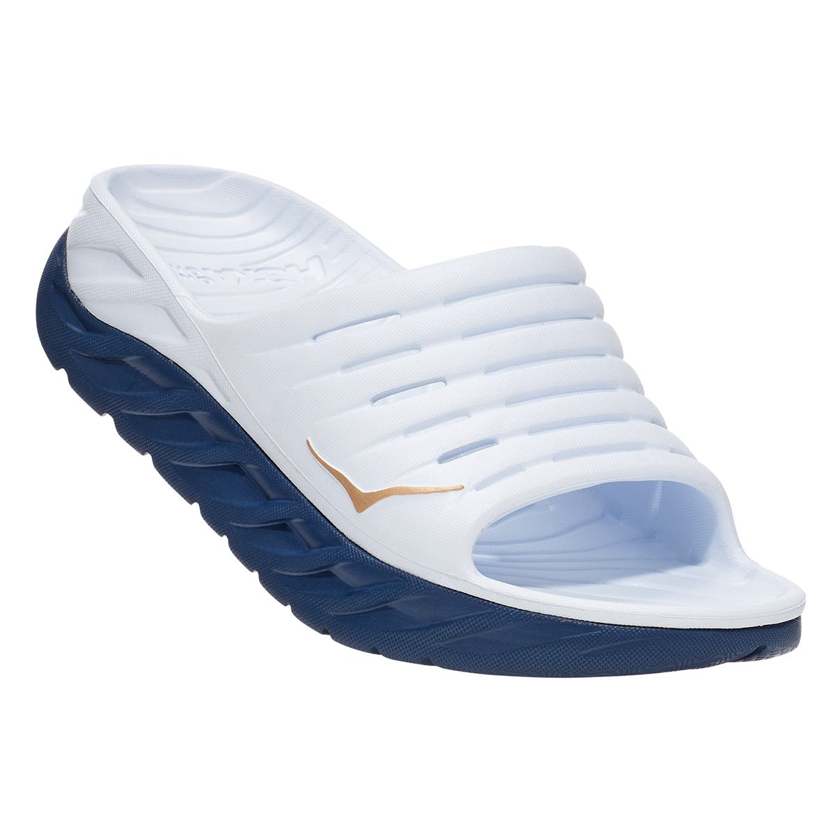 Women's Hoka One One Ora Recovery Slide - Color: White/Vintage - Size: 5 - Width: Regular, White/Vintage, large, image 6