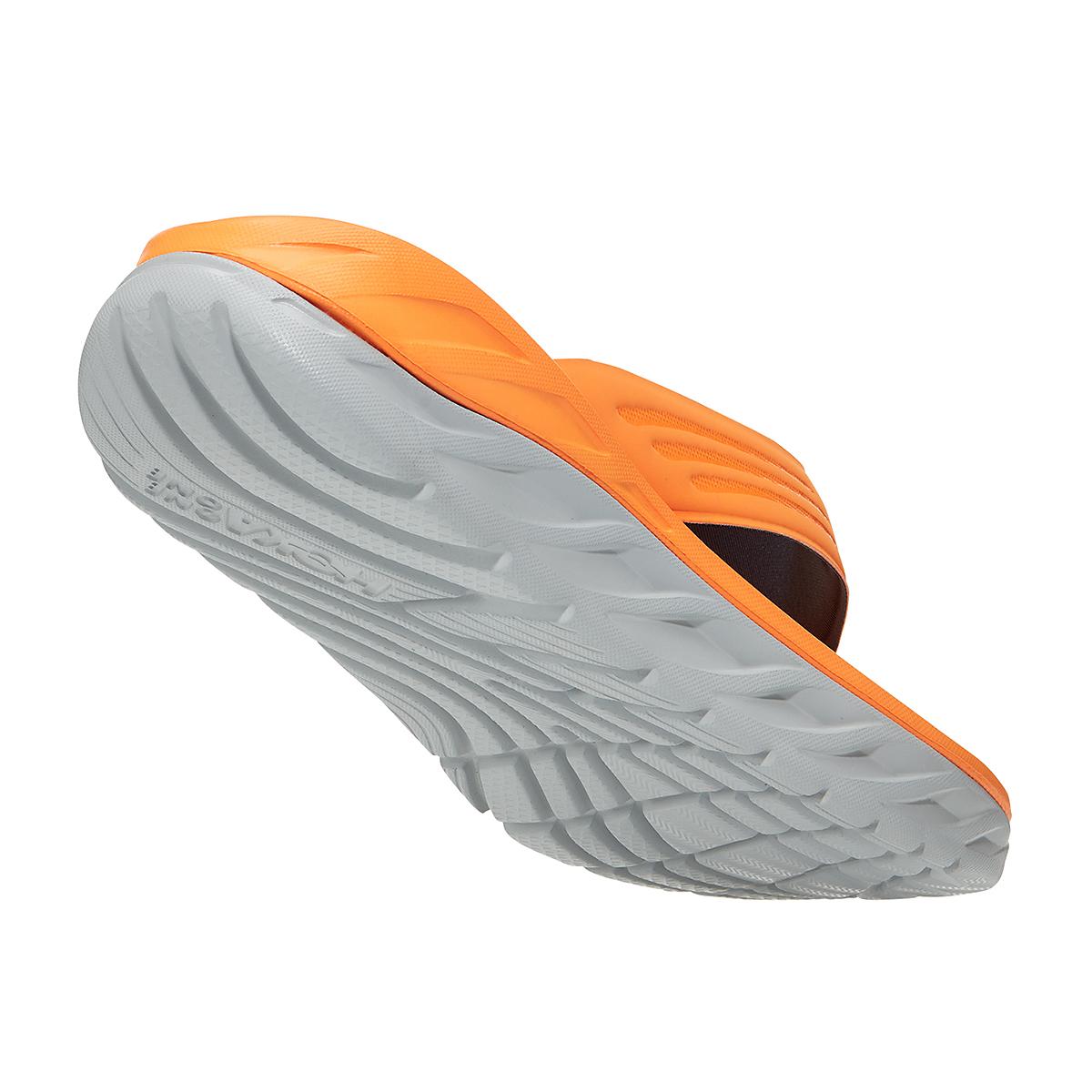 Men's Hoka One One Ora Recovery Flip 2 - Color: Blazing Orange/Lunar Rock - Size: 7 - Width: Regular, Blazing Orange/Lunar Rock, large, image 3