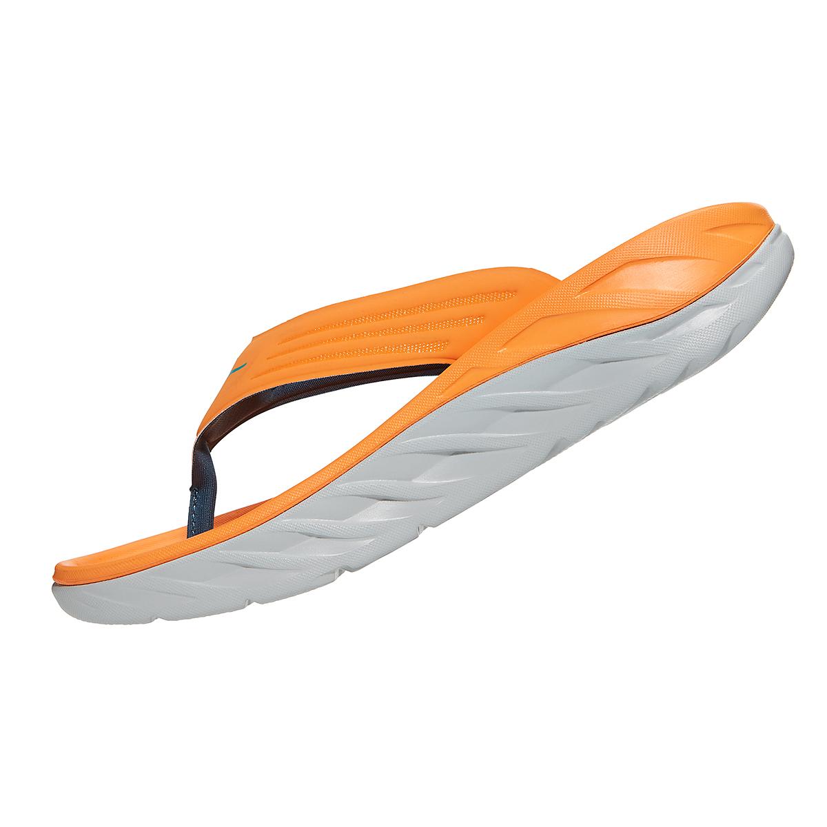 Men's Hoka One One Ora Recovery Flip 2 - Color: Blazing Orange/Lunar Rock - Size: 7 - Width: Regular, Blazing Orange/Lunar Rock, large, image 4