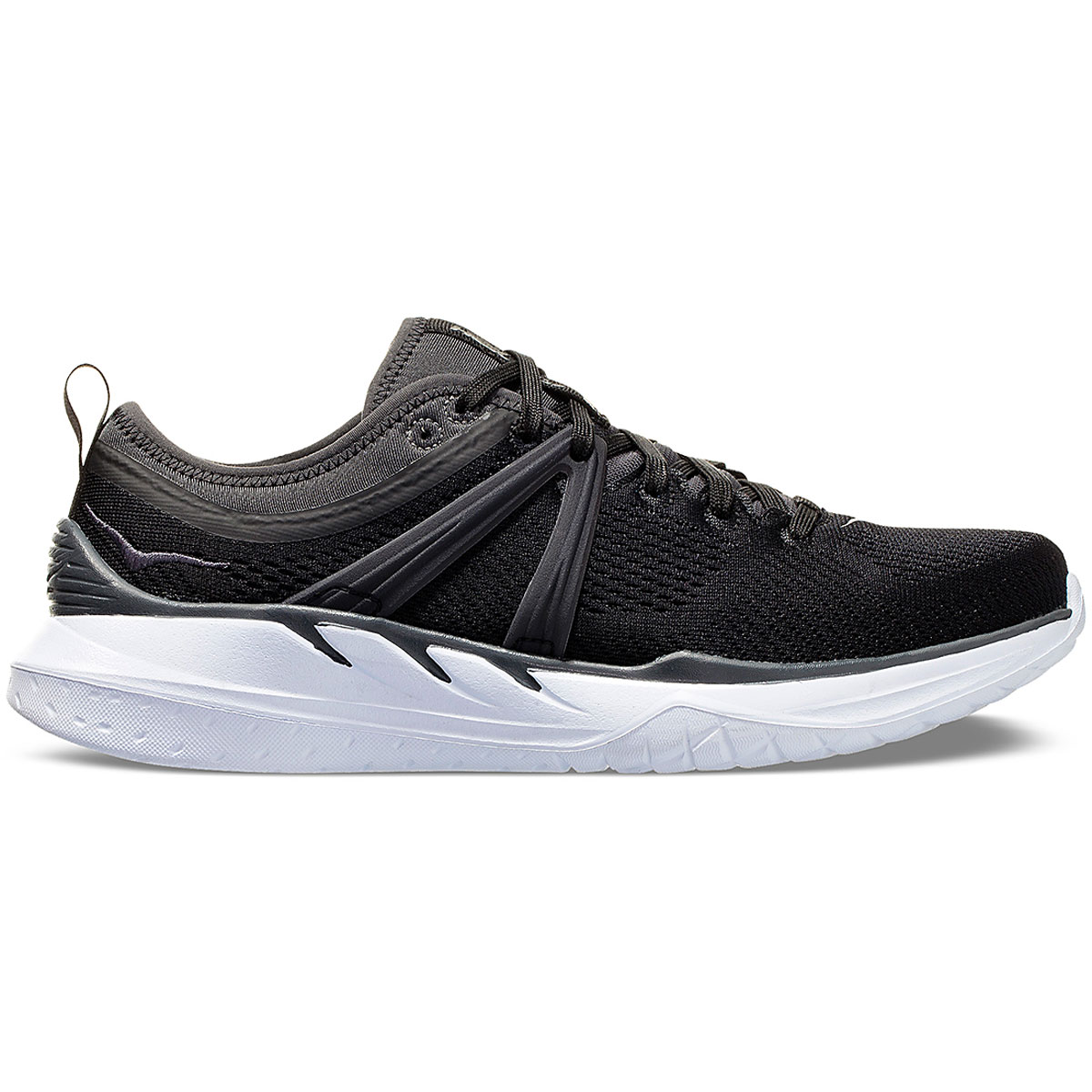 Women's Hoka One One Tivra Running Shoe - Color: Black/Dark Shadow - Size: 5 - Width: Regular, Black/Dark Shadow, large, image 1
