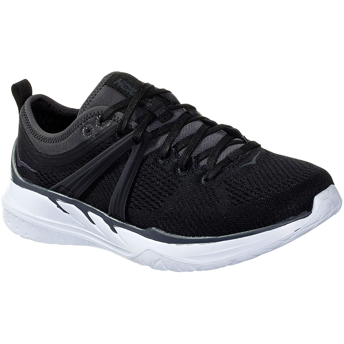 Women's Hoka One One Tivra Running Shoe - Color: Black/Dark Shadow - Size: 5 - Width: Regular, Black/Dark Shadow, large, image 2