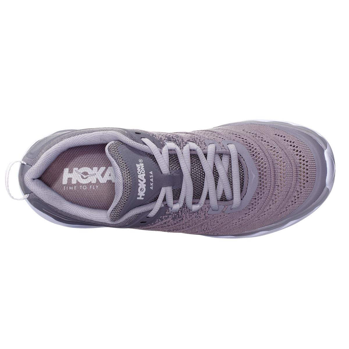 Women's Hoka One One Akasa Running Shoe - Color: Frost Gray/Sconce - Size: 5 - Width: Regular, Frost Gray/Sconce, large, image 3