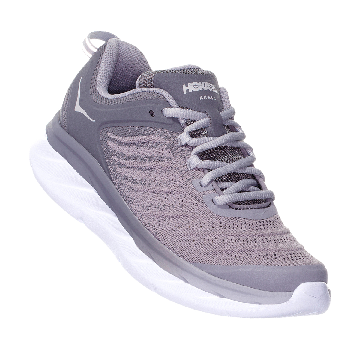 Women's Hoka One One Akasa Running Shoe - Color: Frost Gray/Sconce - Size: 5 - Width: Regular, Frost Gray/Sconce, large, image 5