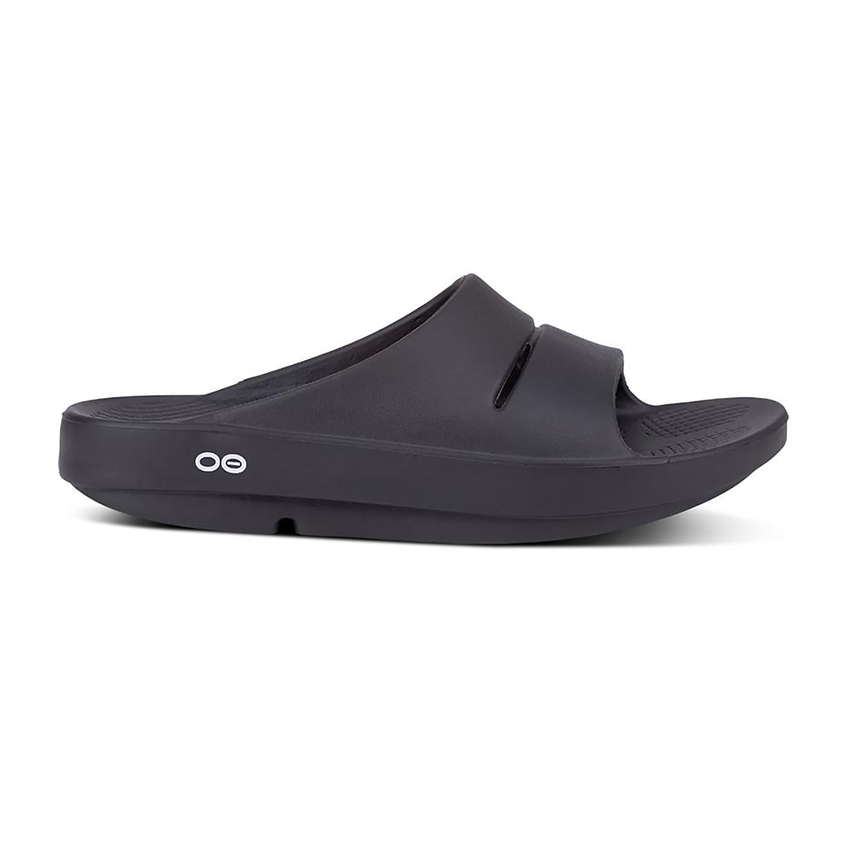 Oofos Ooahh Slide Recovery Sandal - Color: Black - Size: M7/W9 - Width: Regular, Black, large, image 1