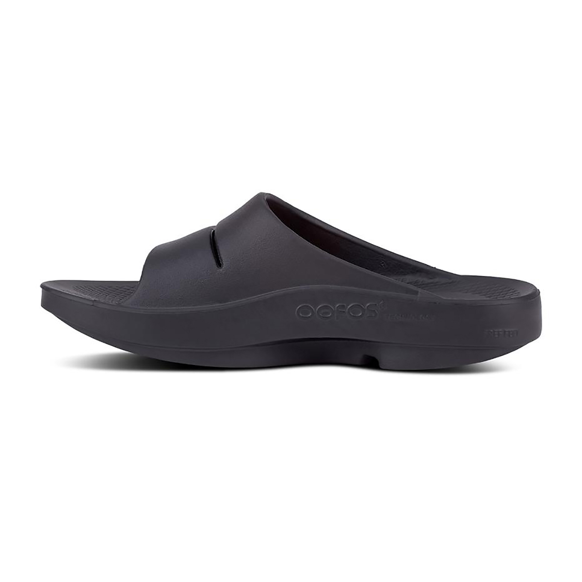 Oofos Ooahh Slide Recovery Sandal - Color: Black - Size: M7/W9 - Width: Regular, Black, large, image 2