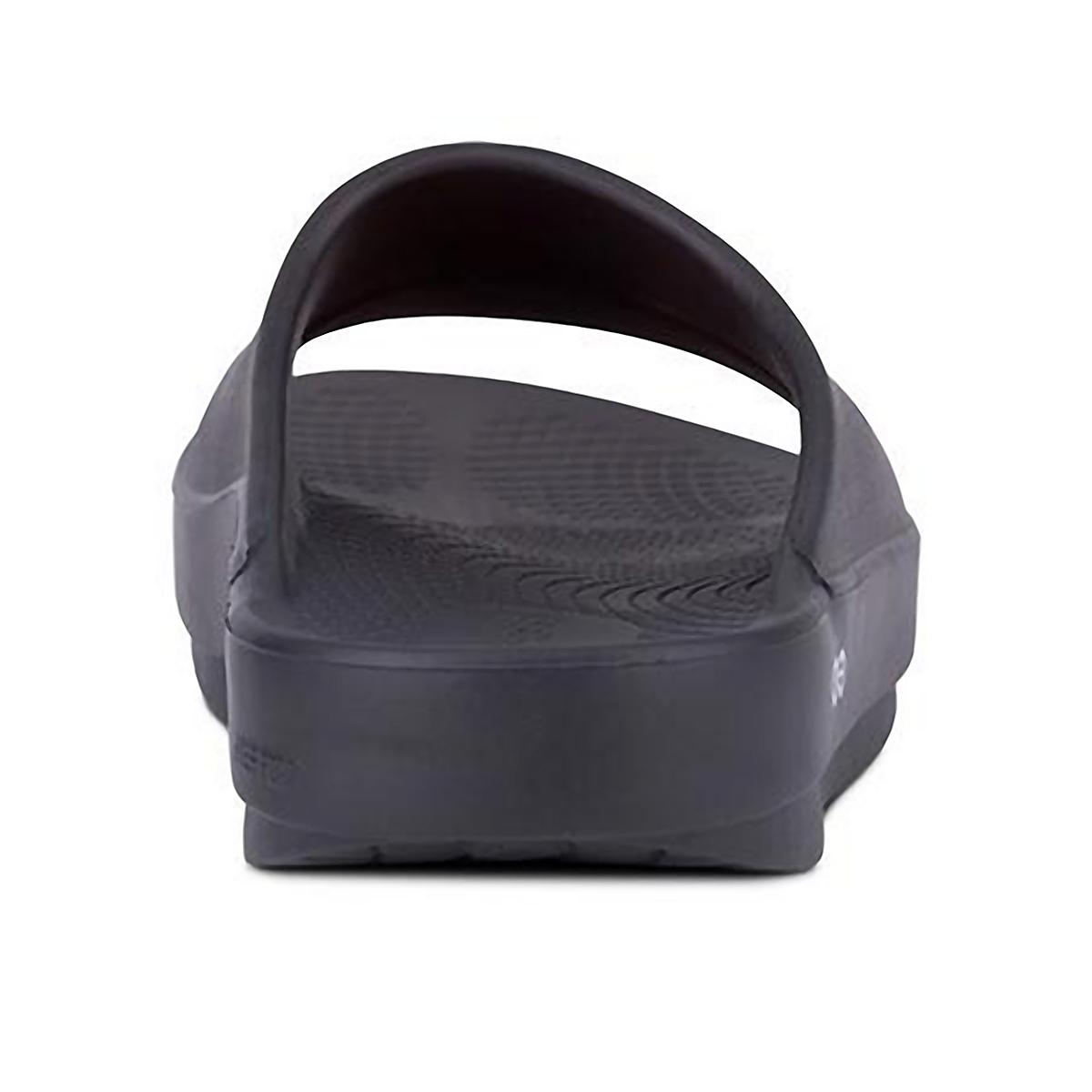 Oofos Ooahh Slide Recovery Sandal - Color: Black - Size: M7/W9 - Width: Regular, Black, large, image 4