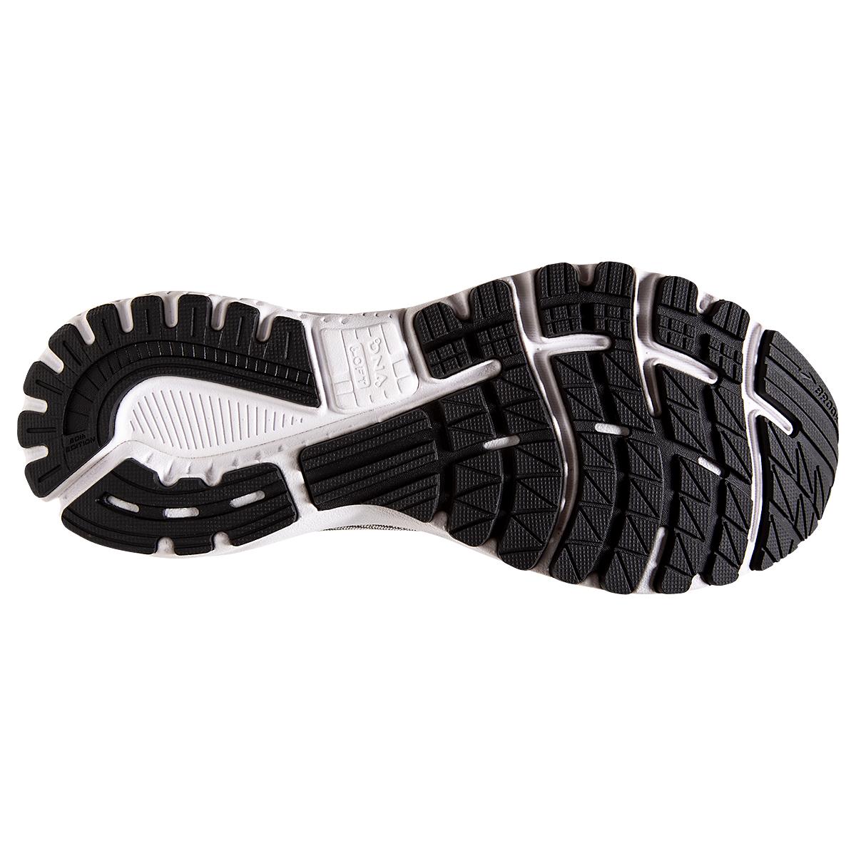 Men's Brooks Adrenaline GTS 20 Running Shoe - Color: Grey/Ebony/Red - Size: 7 - Width: Regular, Grey/Ebony/Red, large, image 3
