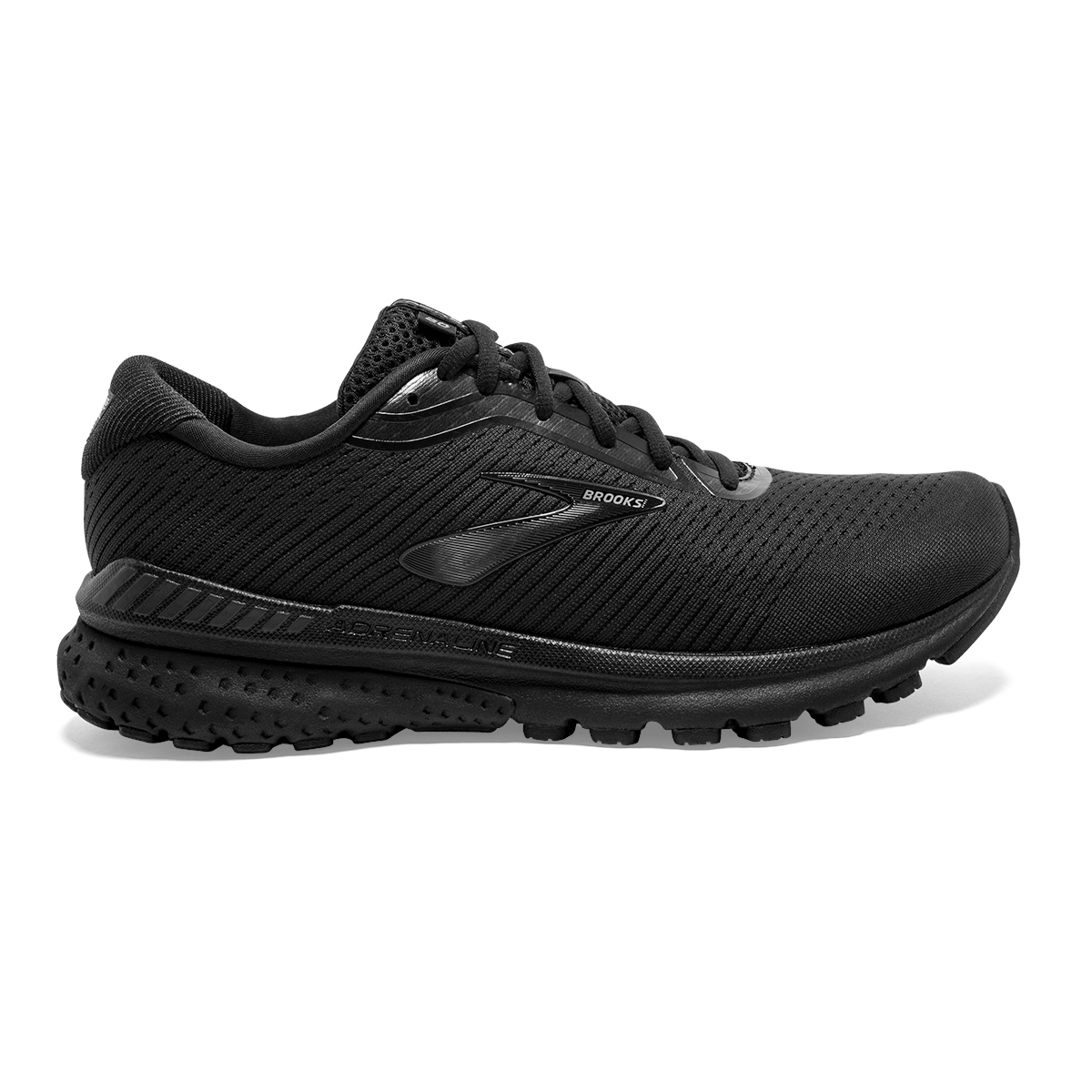 Men's Brooks Adrenaline GTS 20 Running Shoe - Color: Black/Grey (Regular Width) - Size: 15, Black/Grey, large, image 1