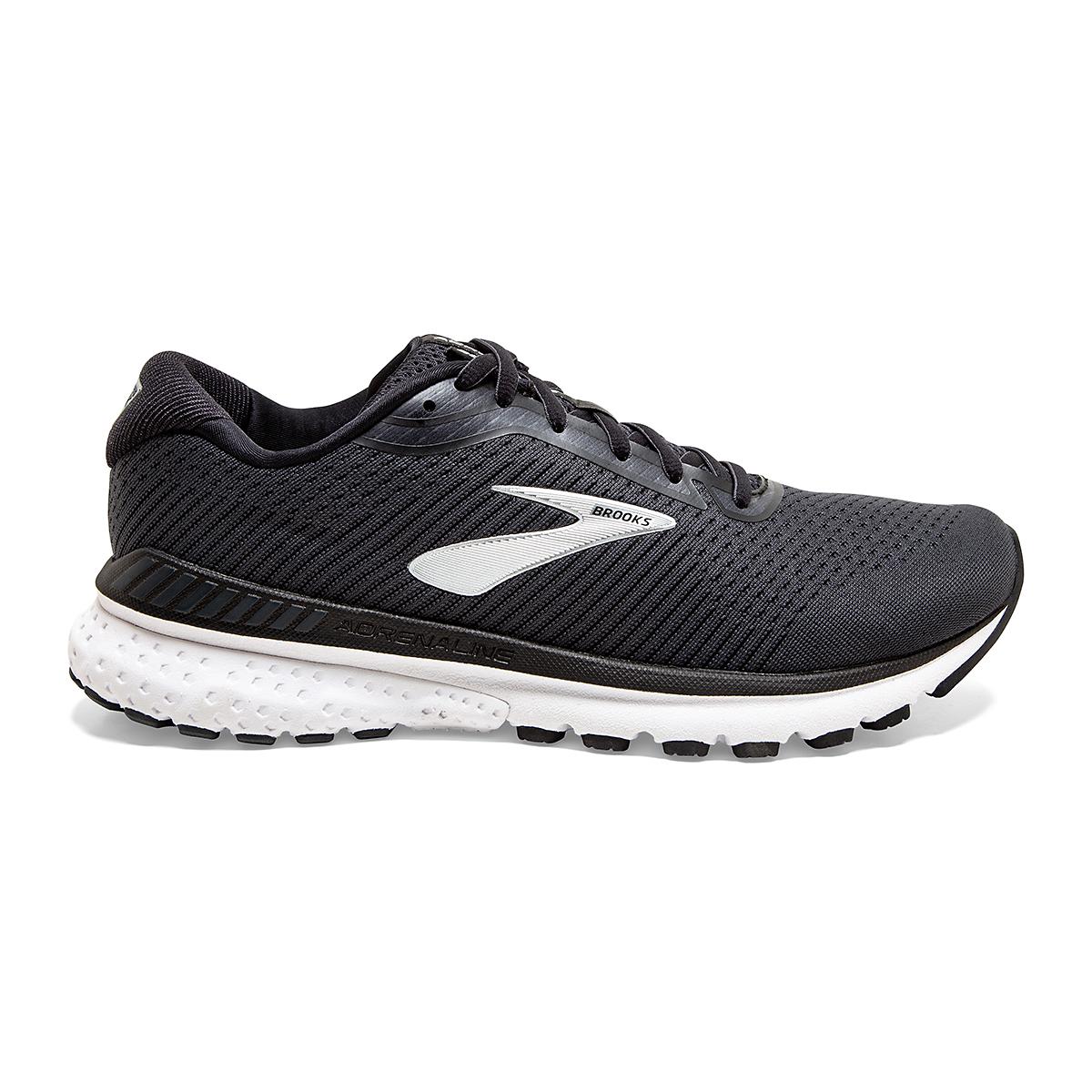 Men's Brooks Adrenaline GTS 20 Running Shoe - Color: Black/Grey/Ebony - Size: 7 - Width: Regular, Black/Grey/Ebony, large, image 1