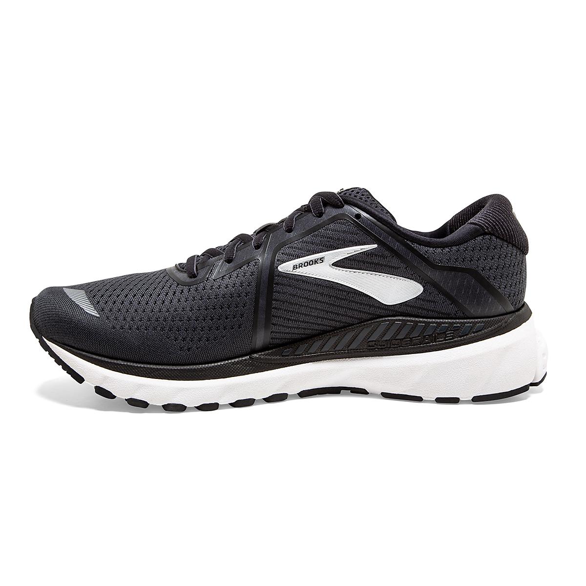 Men's Brooks Adrenaline GTS 20 Running Shoe - Color: Black/Grey/Ebony - Size: 7 - Width: Regular, Black/Grey/Ebony, large, image 2