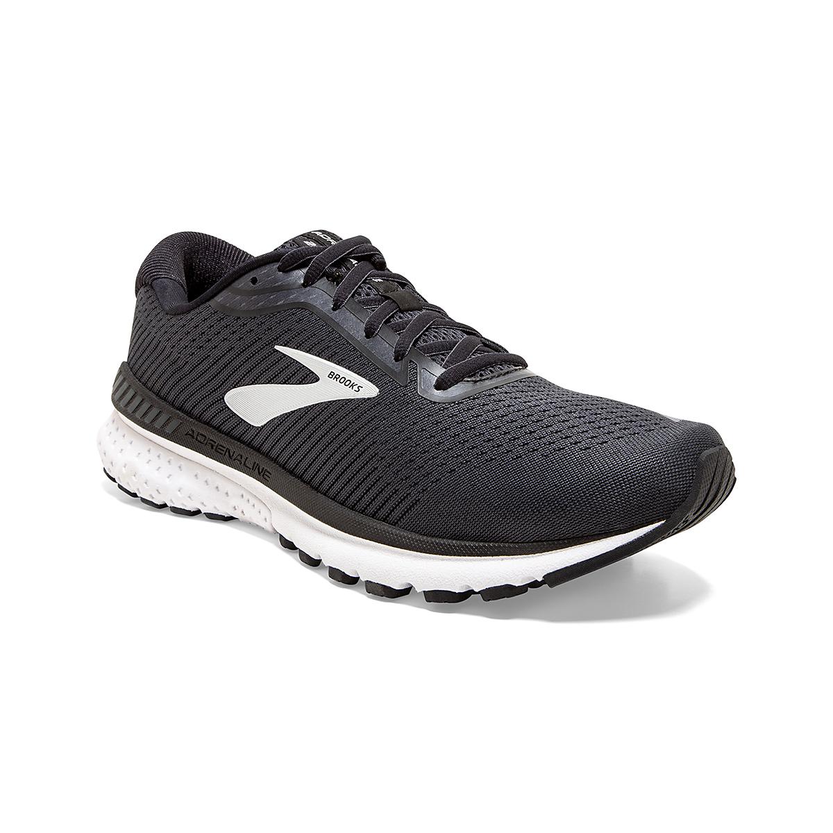 Men's Brooks Adrenaline GTS 20 Running Shoe - Color: Black/Grey/Ebony - Size: 7 - Width: Regular, Black/Grey/Ebony, large, image 3