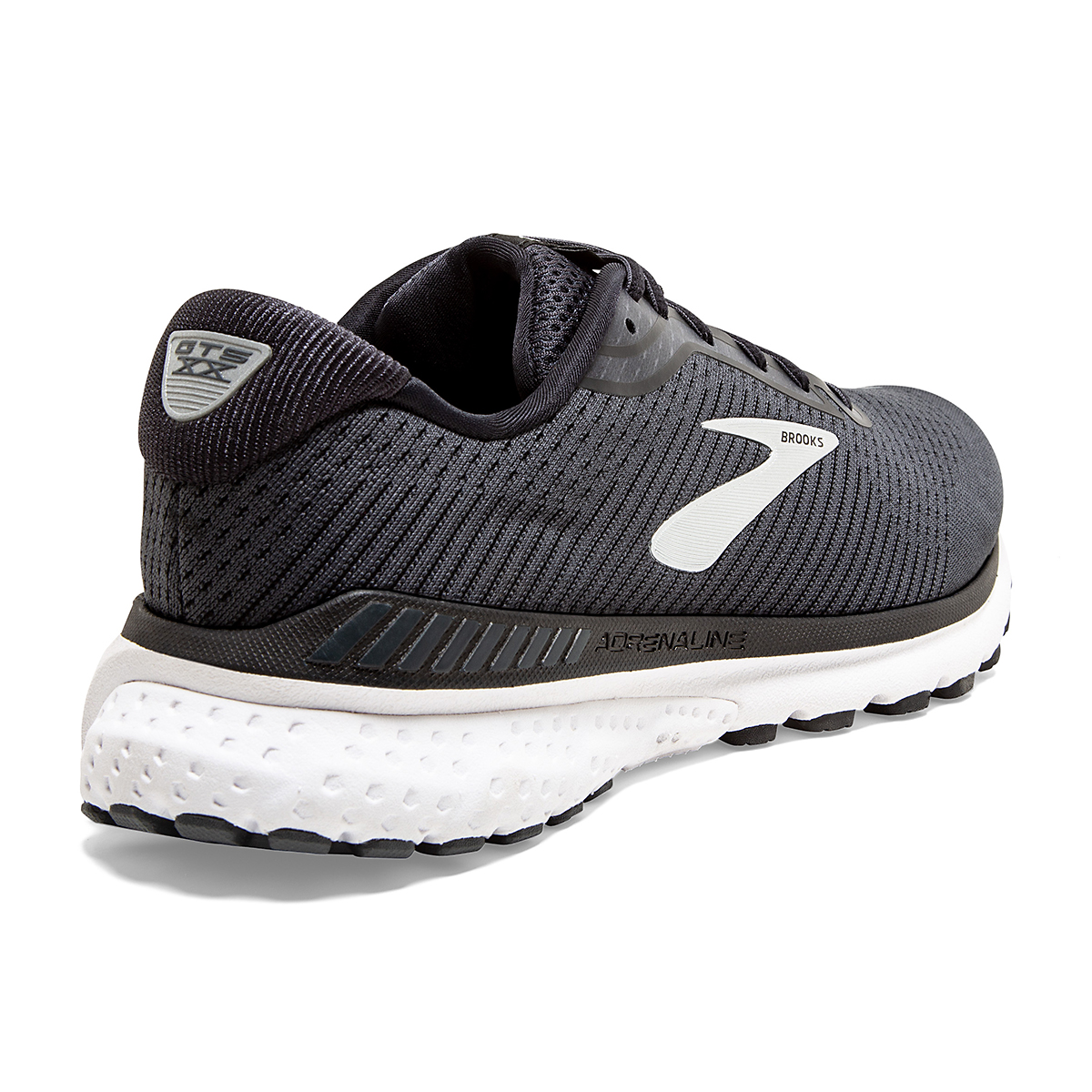 Men's Brooks Adrenaline GTS 20 Running Shoe - Color: Black/Grey/Ebony - Size: 7 - Width: Regular, Black/Grey/Ebony, large, image 4