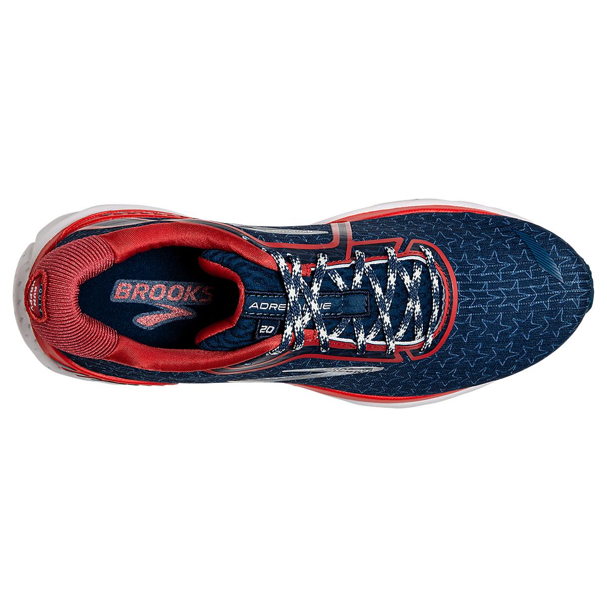 Men's Brooks Adrenaline GTS 20 Running Shoe - Color: Gibraltar/Red/White - Size: 7 - Width: Regular, Gibraltar/Red/White, large, image 2
