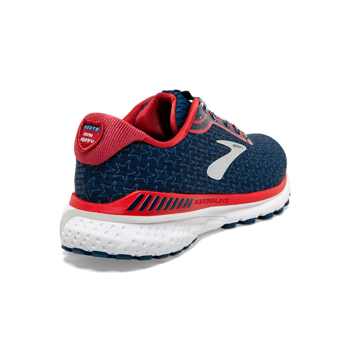 Men's Brooks Adrenaline GTS 20 Running Shoe - Color: Gibraltar/Red/White - Size: 7 - Width: Regular, Gibraltar/Red/White, large, image 4