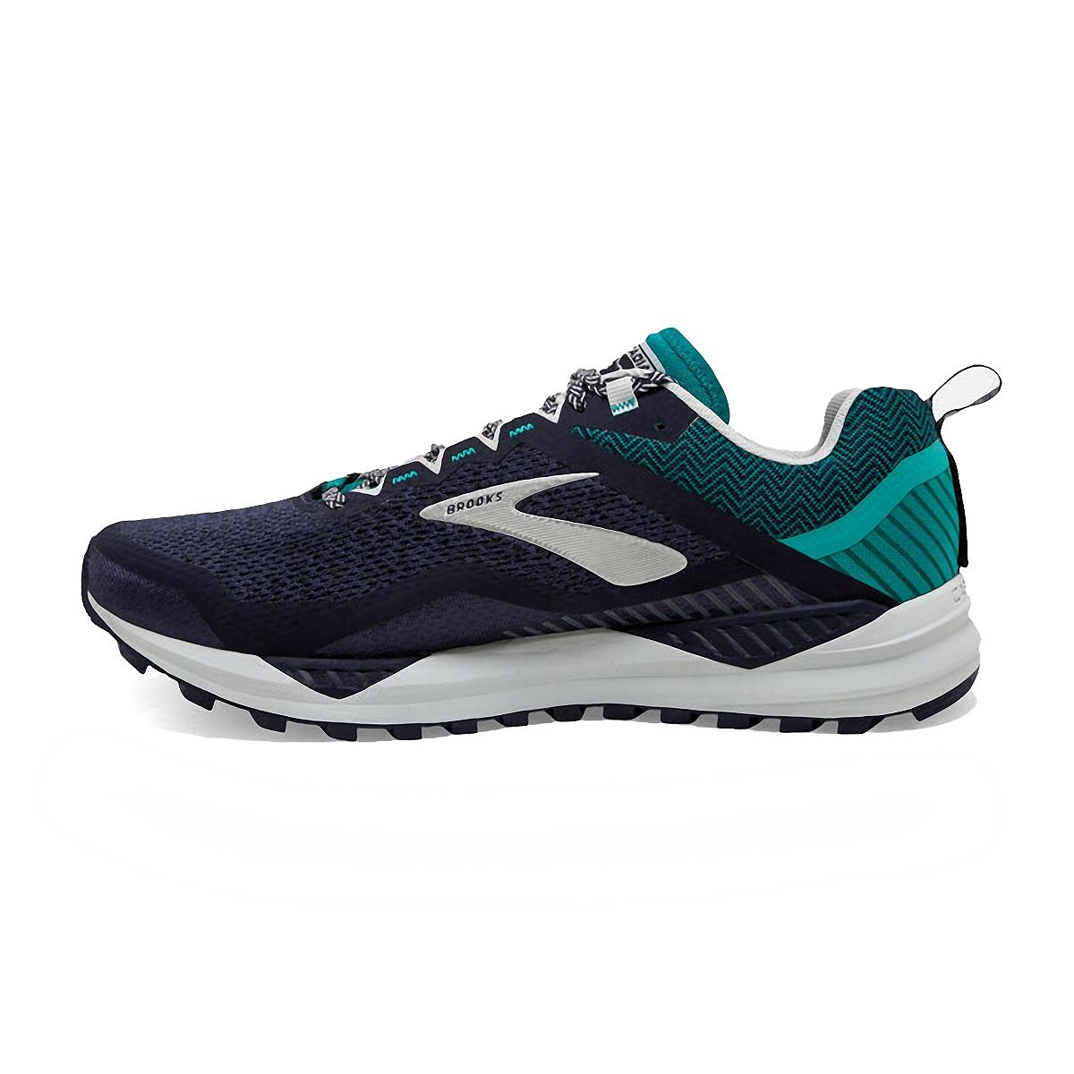 Men's Brooks Cascadia 14 Trail Running Shoe - Color: Navy/Blue Grass - Size: 7 - Width: Regular, Navy/Blue Grass, large, image 2